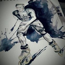 When watercolor meets skating ♡ #waterco