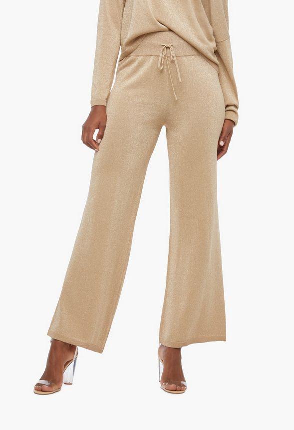 Pantalon ample brillant