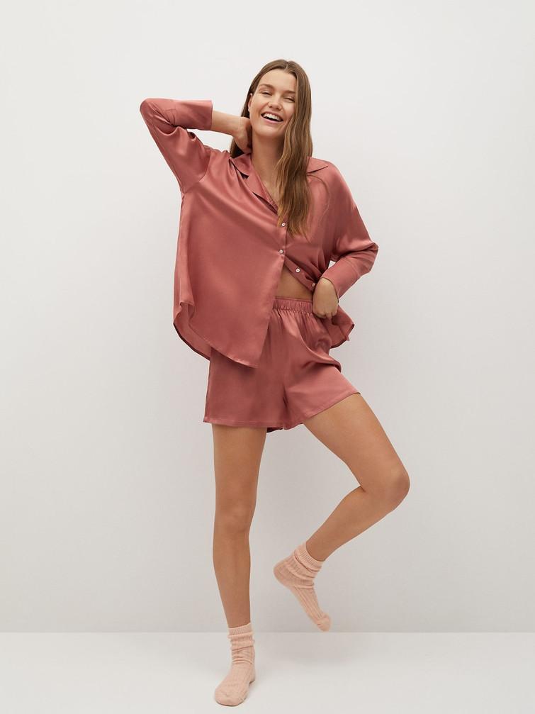 Chemise satinée pyjama