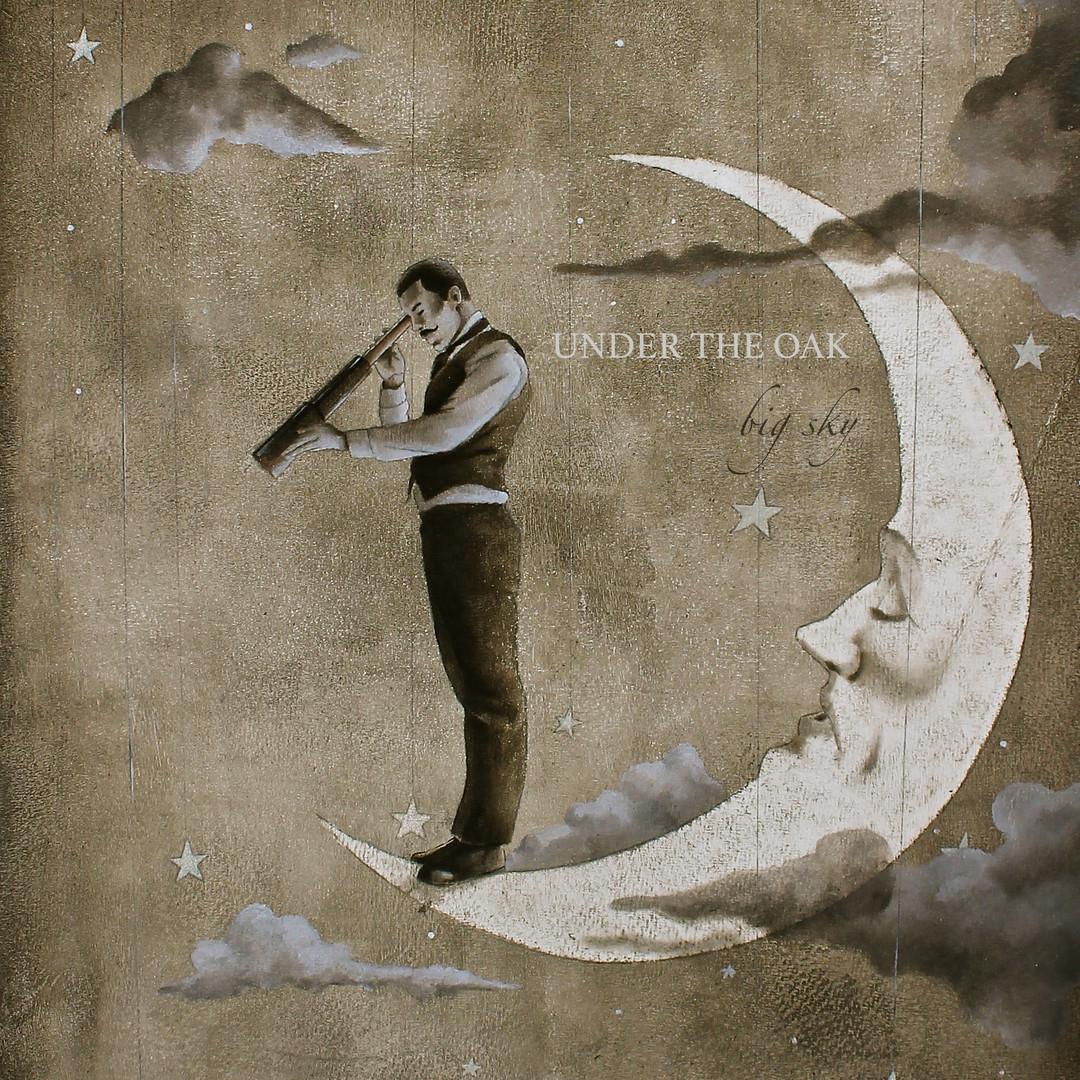 Under the Oak - Big Sky Album Cover - Shannon Stamey Illustration