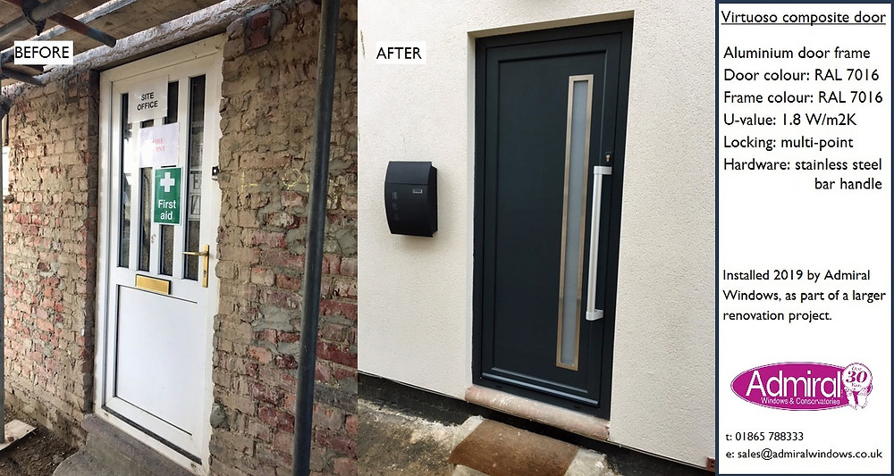 Virtuoso door BEFORE AND AFTER _ Admiral Windows Oxford