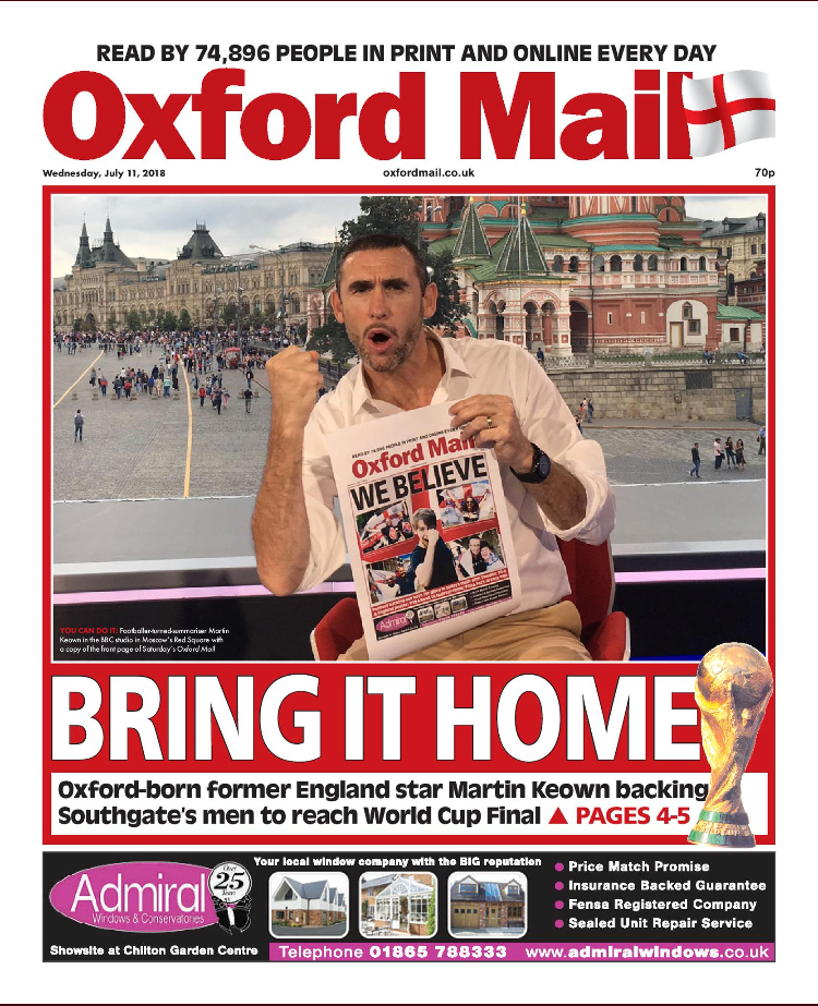 Oxford Mail with ad