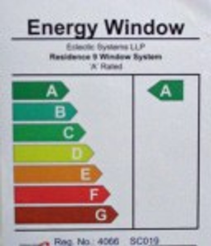 Energy sticker A rated R9