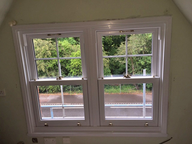 Gable end window set vertical sliders INTERNAL Admiral Windows Oxford