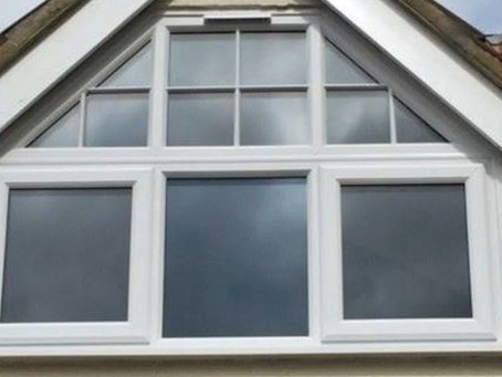 Time-lapse video of raked frame window installation