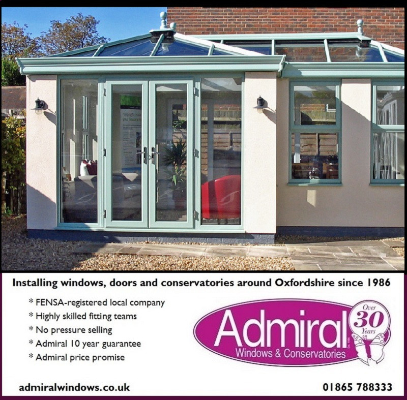 Admiral Windows Oxford showsite at Chilton ad ORANGERY
