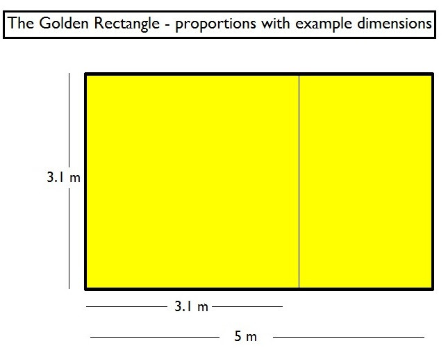 Golden Rectangle proportions
