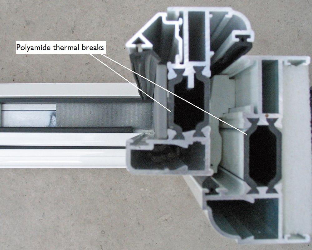 polyamide thermal break alu frame Admiral Windows Chilton LABELLED