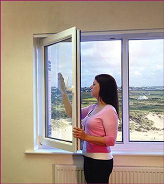 Double panel tilt and turn white plastic window