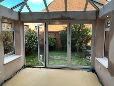 An orangery in Didcot. Part 2: raise high the roof beam, carpenters