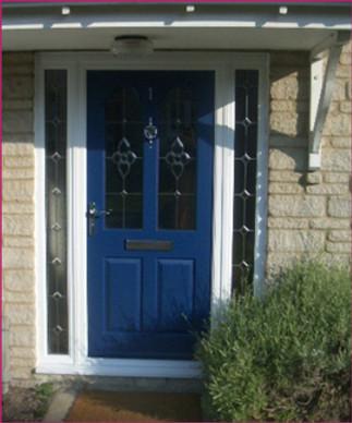 composite door with sidepanels