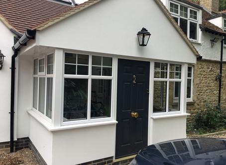 Porch with Solidor composite door installation