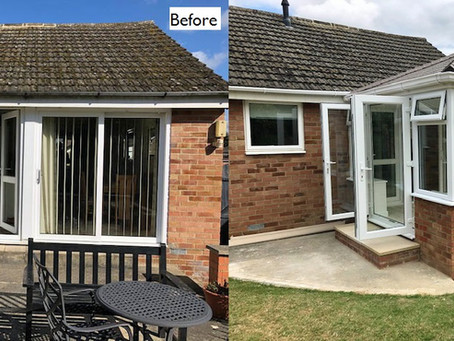 Conservatory with solid tiled roof