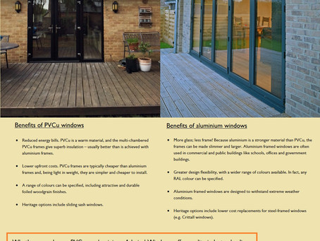 PVCu or aluminium windows – which is best for me?