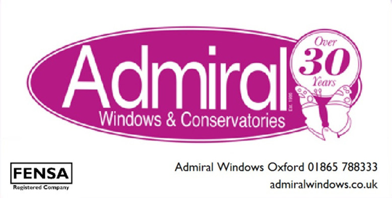 Admiral logo and telephone with FENSA logo