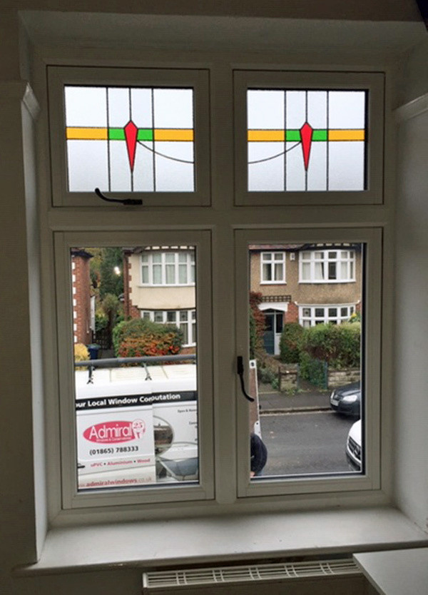 FF cross window stained glass fanlights_Admiral Windows Oxford