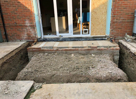 An orangery in Didcot. Part 1: building on strong foundations