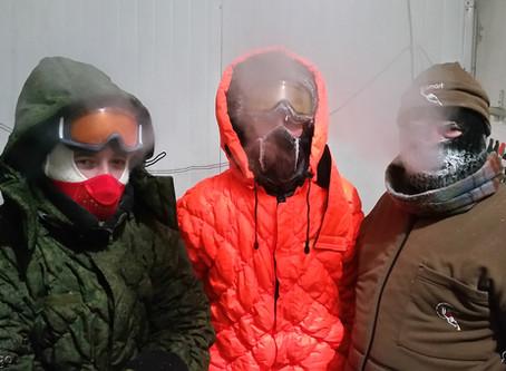 Тестирование утеплителя в криокамере