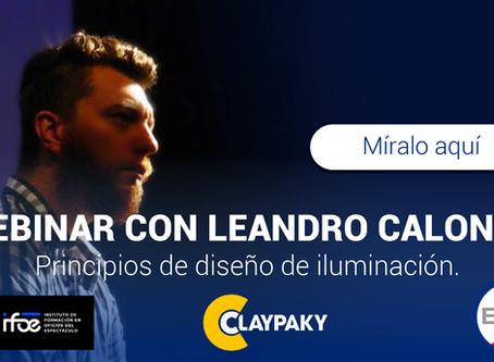 Webinar Principios de diseño de iluminación con Leandro Calogne y Mauricio Brando.