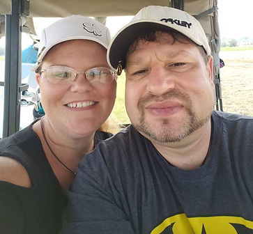 Golfing with my baby at the Golf fore ki