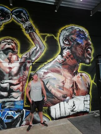 Mayweather gym mural