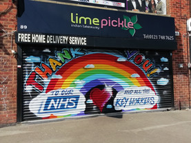 NHS Thank you mural