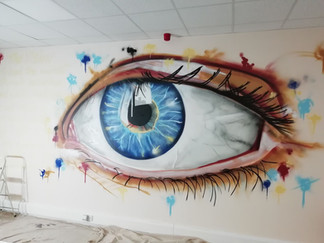 Office decorating.. eye see you!