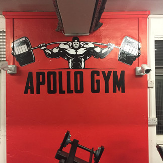 Hand painted logo for The Apollo Gym, Birmingham