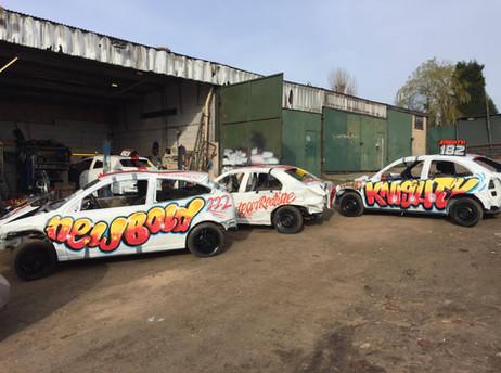 Spray Paint Style, Team Redline lads ready for Trent Raceway
