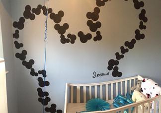 Disney themed nursery. All hand painted