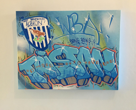 Custom West Bromwich Albion canvas