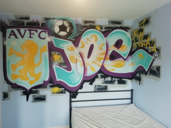 AVFC Bedroom for Joe!