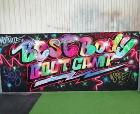 Neon Graffiti style lettering