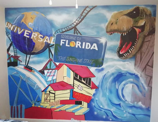 Florida themed bedroom