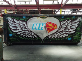 Love the NHS! Skip mural with H.W Taroni