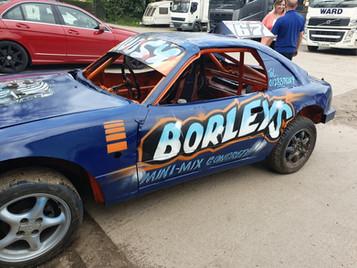 Borleys advert, Spray painted
