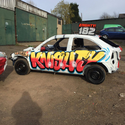 Passenger side of 182. Spray painted style, The Colours and design possibilities are endless