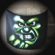 Spray painted hulk bonnet