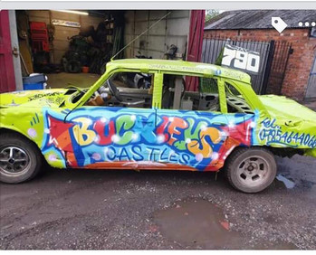 Spray painted style, Triumph 2000 for Stan woods Memorial