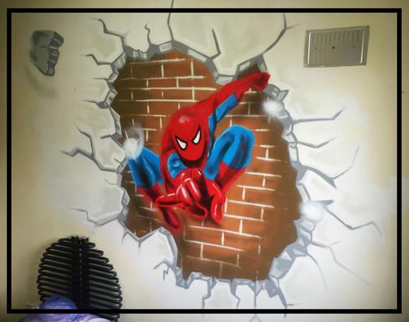 Spiderman bedroom centre piece