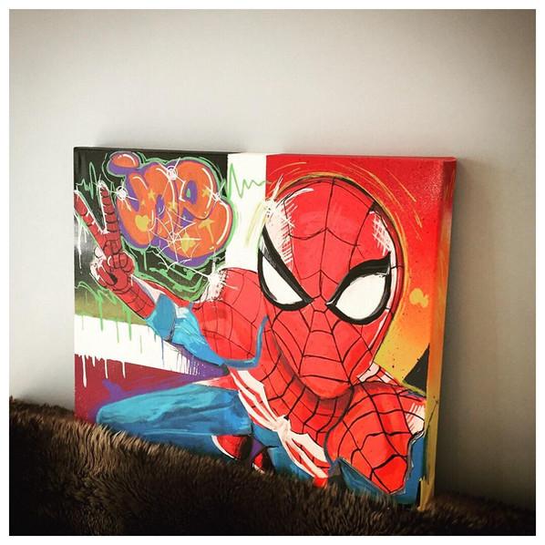 Custom spiderman canvas