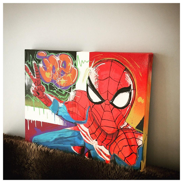 Custom spiderman canvas