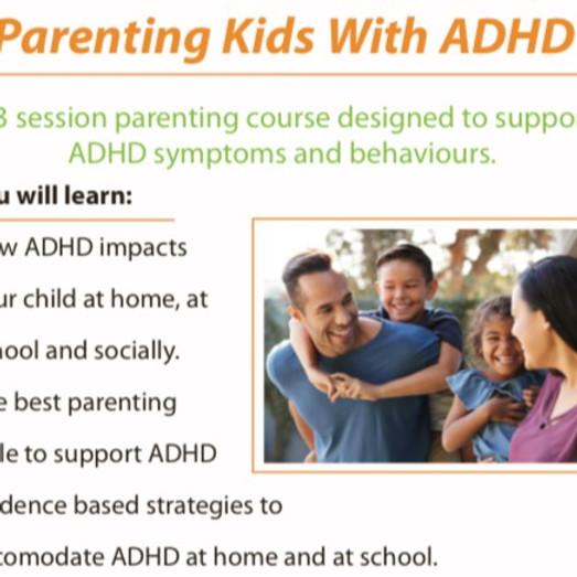 Parenting Kids With ADHD, Parent Training Workshop - Serpentine WA