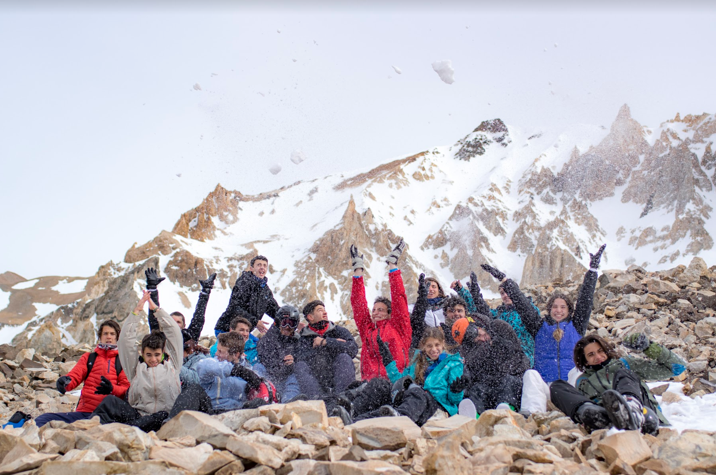 Foto grupal nieve
