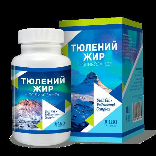 ТЮЛЕНИЙ ЖИР - источник Омега-3 и поликозанола купить в Казахстане