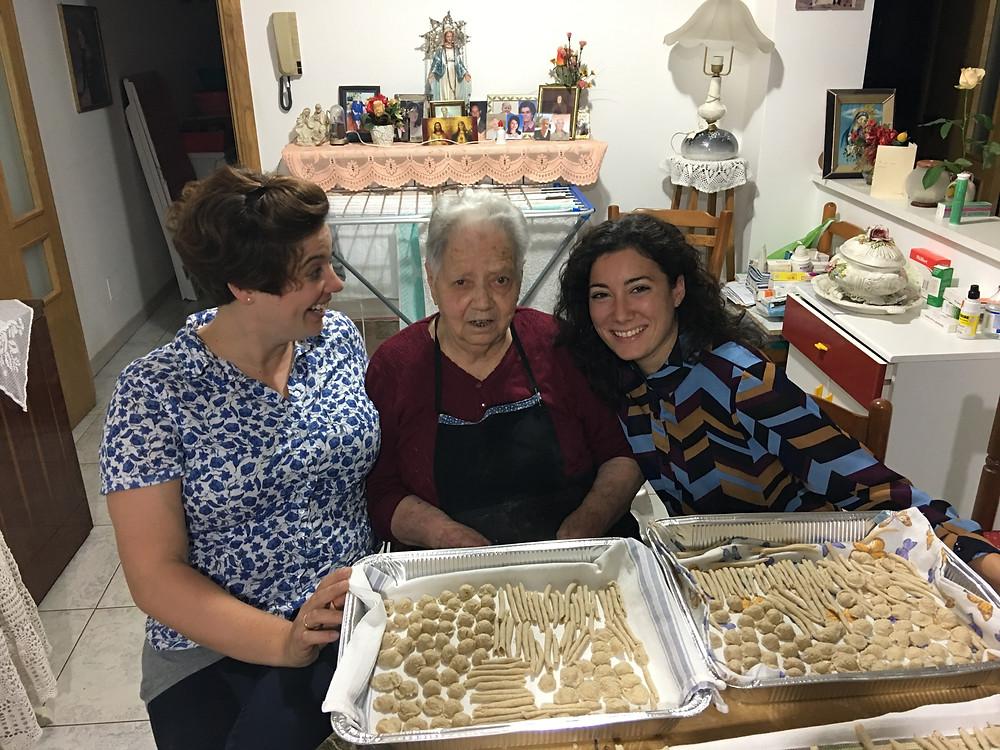 Me, Nonna Jolanda, and Giulia (another friend).