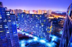 Beijing city at night