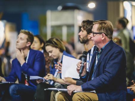 Michael Ingemann judges Seeds & Chips accelerator pitch contest