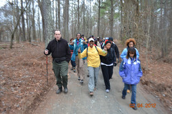 Leading one of our Annual hikes