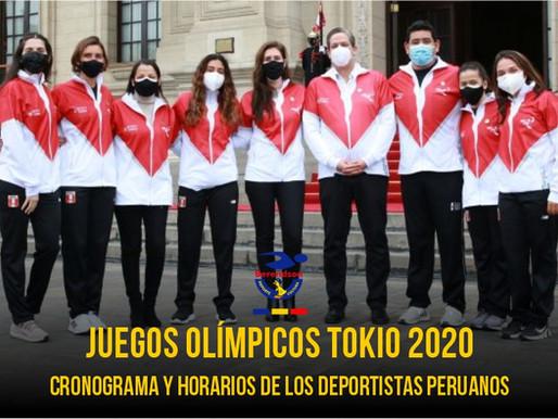 Tokio 2020: cronograma y horarios de los deportistas peruanos en los Juegos Olímpicos
